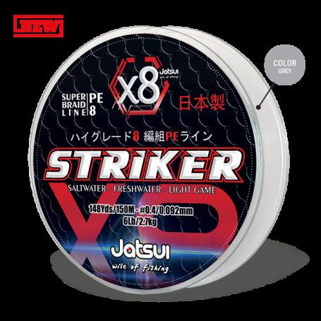 JATSUI STRIKER MICRO TRECCIA X8 - GREY - 150MT